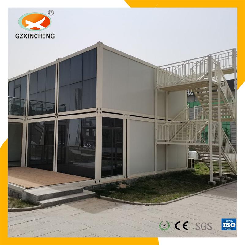 La estructura de acero rápido de instalar la Villa de lujo prefabricados prefabricados de dos pisos de la casa de la casa de contenedores