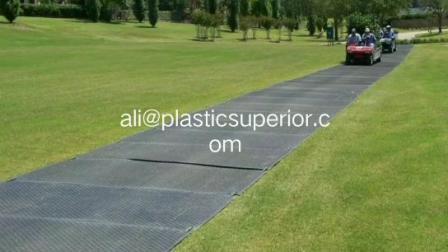 Escavatore per costruzione temporanea in plastica UHMWPE HDPE 4X8 piedi per impieghi pesanti Tappetini stradali con palude, pavimento in moquette/lamiera