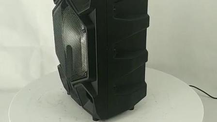 12 Zoll Tragbare Kunststoff / ABS Trolley-Lautsprecher-Box mit Bluetooth und USB/SD MP3-PLAYER