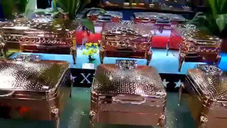 Matériel de restauration de l'hôtel Rectangle Couvercle en verre plat sous forme de buffet hannetons réchauffeur électrique de l'induction plus chaud de luxe Or Rose hydraulique Hot Pot plat arabe usure par frottement