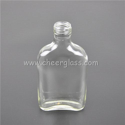 Qualität Miniture 150ml wenig freier flacher Flaschenglas-Hip Kolben mit Überwurfmutter