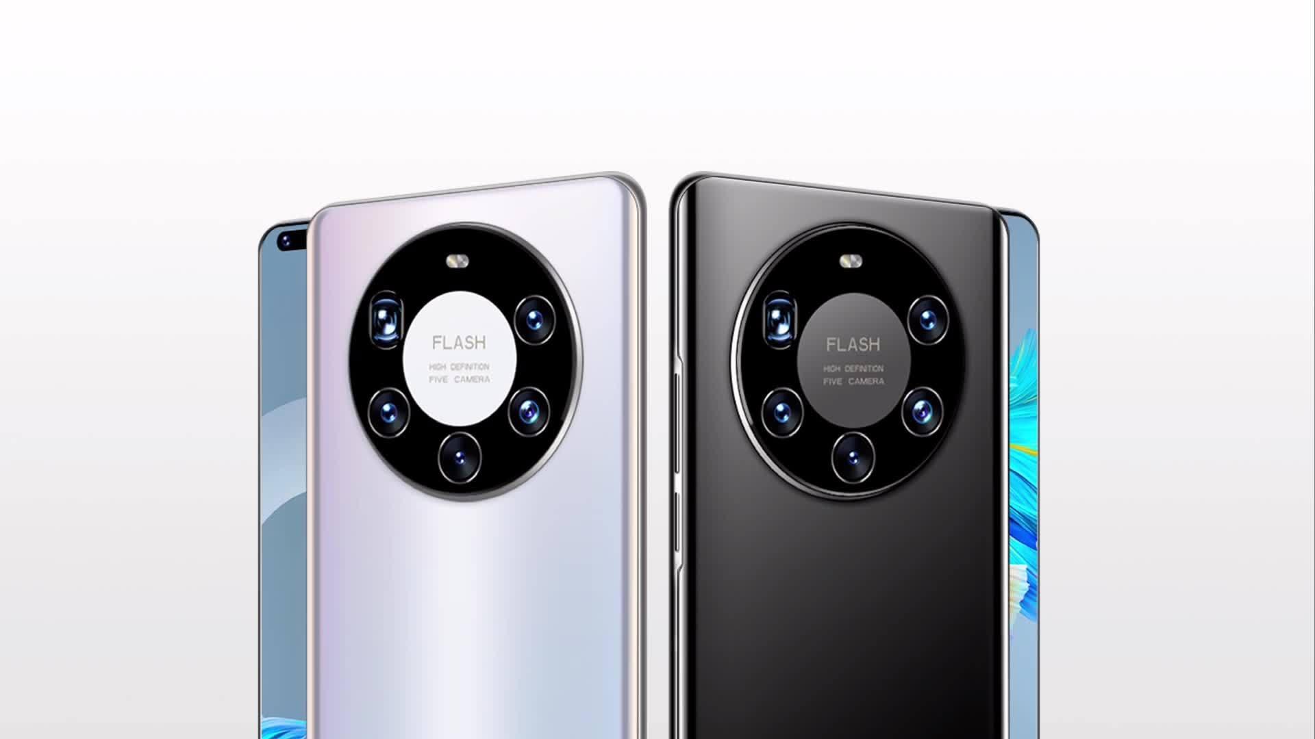 스마트폰 HYT-Mate40 PRO 6.26인치를 통해 휴대폰 5대의 카메라 Android 휴대폰을 사용할 수 있습니다 1GB 이상 8GB 듀얼 SIM 휴대폰