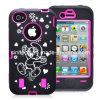 3-Piece Hybrid High Impact Brainy Cartoon Pattern Case Cover for iPhone4 4s