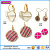 Guangzhou Boosin Zinc Alloy Jewelry, Cross Rhinestone Enaeml Earring# 21552