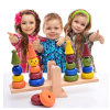 Wooden Early Educational Multicolor Balance Block Stack Children Toys