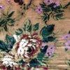 Printed Silk Velvet in Flower Design