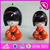 2015 Promotional High Grade Cute Wooden Kimono Doll, Japanese Wooden Lovely Doll in Kimono, Beautiful Wooden Kimono Dolls W06D071A