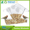 Unusual Acrylic Plastic Window Bird Feeder House with Suction Cups