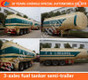 3-Axles 42cbm Fuel Tanker Truck Trailer