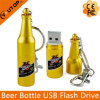 Custom Logo Gold Beer Bottle USB Pendrive (YT-1216)