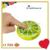 Round Fruit Shape Auto Rotating Push Button Pill Box