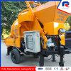 300m Pumping Distance Portable Mini Concrete Pump with Mixer