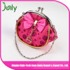 Personalized Ladies Large Squeeze Clasp Round Coin Purse for Women