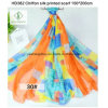 150*200cm Hot Sale Chiffon Printed Shawl Fashion Lady Silk Scarf