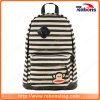 Cartoon Canvas Stripe Allover Pattern Backpack for High School Students