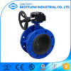 2017 Hot Sale Worm Gear Operated Cast Iron Butterfly Valve
