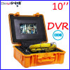 Waterproof 23mm Pipe Inspection Camera CR110-10G with 10′′ Digital LCD Screen & DVR Video Recording with 20m to 100m Fiberglass Cable