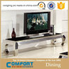 Modern Stainless Steel Base Marble Top TV Stand Furniture