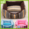 Striated Square Stripe Canvas Dog and Cat Bed (HN-pH469)