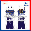 Healong Customized Design Sportswear Sublimation Volleyball Uniforms
