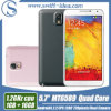 5.7 Inch IPS Touch Screen 1GB RAM Mtk6589 Quad Core Single SIM Note 3 U9000