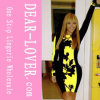 Beyonce Black Yellow Leaf Bodycon Dresses
