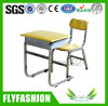 Wooden Single School Student Desk and Chair School Furniture