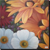 Wholesale Modern Handmade Colorful Flower Painting for Inner Decor (LH-501048)