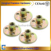 Round Base T Nut with Three Holes, Furniture Nut Manufacturer