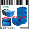 Large Stackable and Nestable Plastic Storage Crate Box