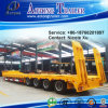 2-4 Axle 35-45t Low Flat Semi Trailer (concave beam pumping structure exposed tires) (LAT9350TDP)