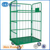 Supermarket 2 Sides Nestable Wire Mesh Roll Cage Pallet