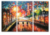 100% Handmade Palette Knife Painting on Canvas for Home Decor (LA3-131)