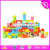 Wholesale Customize 100 Pieces Children Preschool Wooden Educational Play Blocks W13b035
