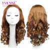 Loose Curly Brazilian Hair Lace Front Wig