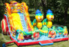 PVC Inflatable Slide Inflatable Trampoline Complexes Vitamin C Fruit Theme