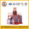 Sc100/100 Double Cage Small Construction Hoist