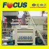 Fully-Automatic Lifting Concrete Mixer, Js1000 Twin Shaft Concrete Mixer