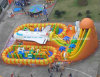 New Inflatable Fun City Giant Inflatable Bounce with Inflatable Slide