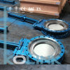 Hydraulic Actuated Knife Gate Valve Reduced Port Cast Steel Knife Gate Valve