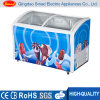Showcase Refrigerators Small Freezer with Glass Door Chiller Freezer