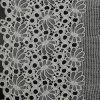 Crown Embroidery Cotton French Voile Lace Fabric (SR8994)