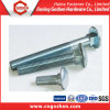 Carriage Bolt, Blue White Zinc-Plated Fastener Bolt