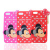 Lovely DOT Mickey Silicone Mobile Phone Case for Huawei P9 P8 P9lite J2 Prime (XSD-014)