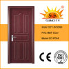 Flush Single Wooden MDF PVC Doors (SC-P054)