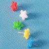 Coloured Plastic Star Push Pin (QX-HP007) 15mm Decoration