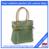 Waxed Canvas Tote Handbag
