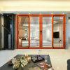 Golden Oak Wooden Color Aluminum Heavy Sliding Door (FT-D190)