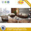 Modern Europe Design Steel Metal Leather Waiting Office Sofa (HX-S349)