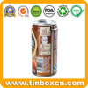 Round Colorful Printed Tin Coffee Can with Ring Pull